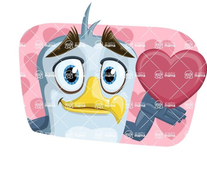 Seabird Cartoon Vector Character AKA Gulliver SeaBird - Shape 3