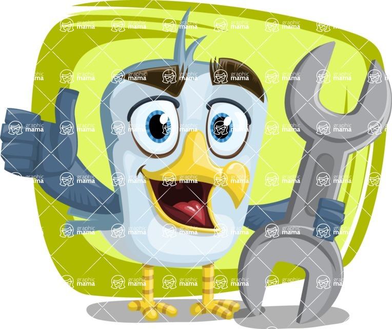Seabird Cartoon Vector Character AKA Gulliver SeaBird - Shape 11