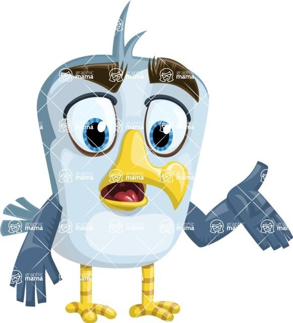 Seabird Cartoon Vector Character AKA Gulliver SeaBird - Lost 2