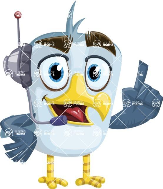 Seabird Cartoon Vector Character AKA Gulliver SeaBird - Support