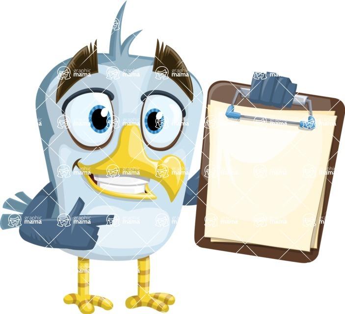 Seabird Cartoon Vector Character AKA Gulliver SeaBird - Note 3