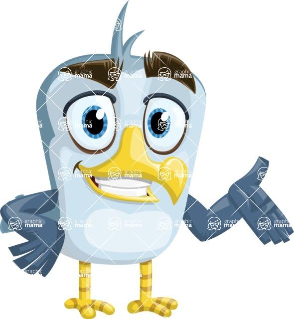 Seabird Cartoon Vector Character AKA Gulliver SeaBird - Showcase