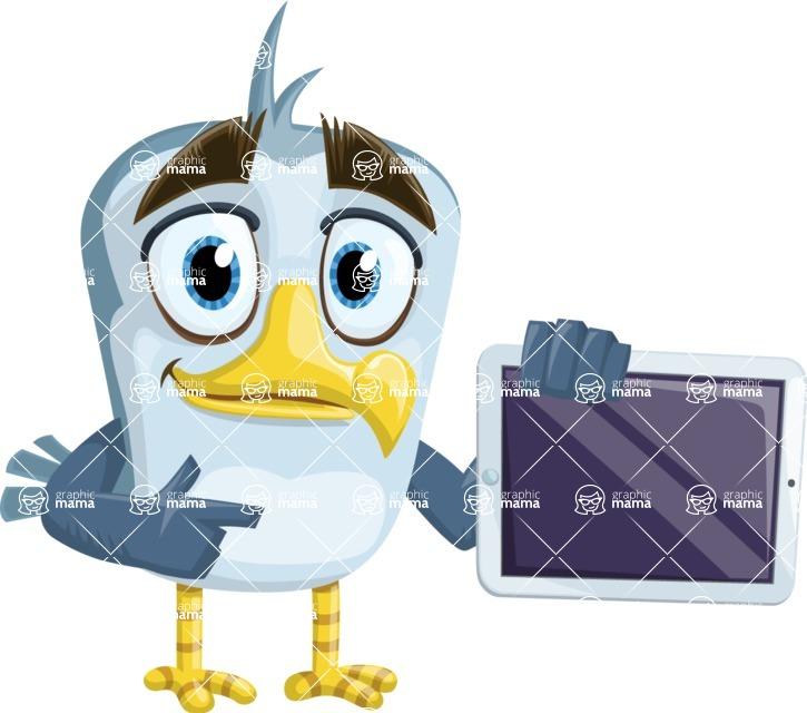 Seabird Cartoon Vector Character AKA Gulliver SeaBird - iPad 2