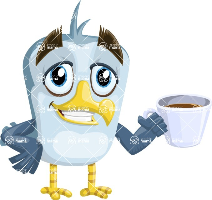 Seabird Cartoon Vector Character AKA Gulliver SeaBird - Coffee Mug