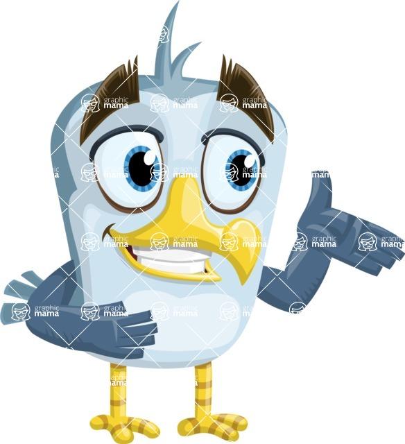 Seabird Cartoon Vector Character AKA Gulliver SeaBird - Showcase 2