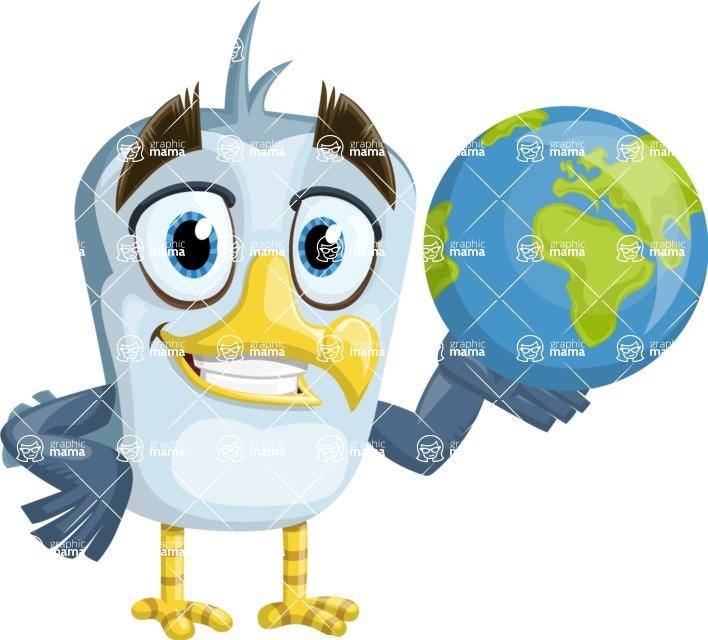 Seabird Cartoon Vector Character AKA Gulliver SeaBird - Earth
