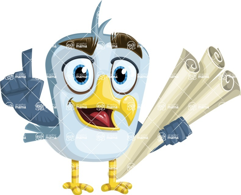 Seabird Cartoon Vector Character AKA Gulliver SeaBird - Plans