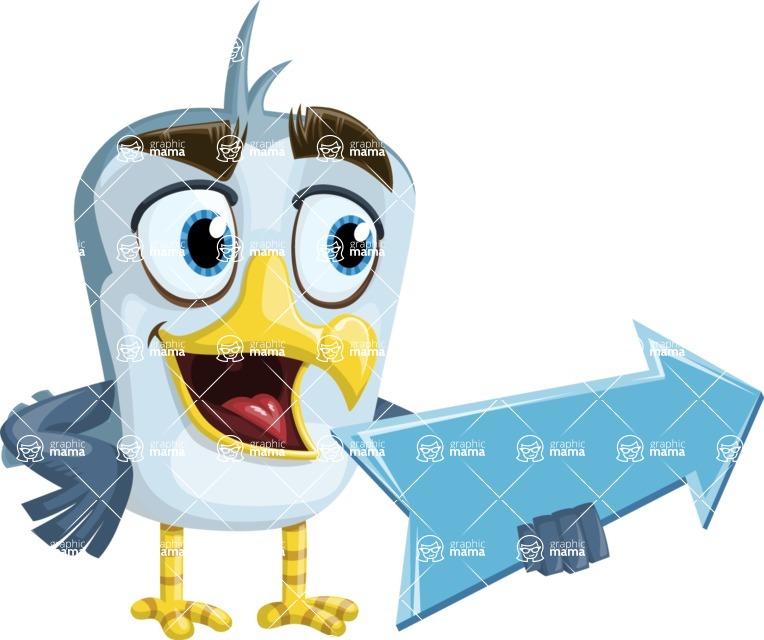 Seabird Cartoon Vector Character AKA Gulliver SeaBird - Pointer 1