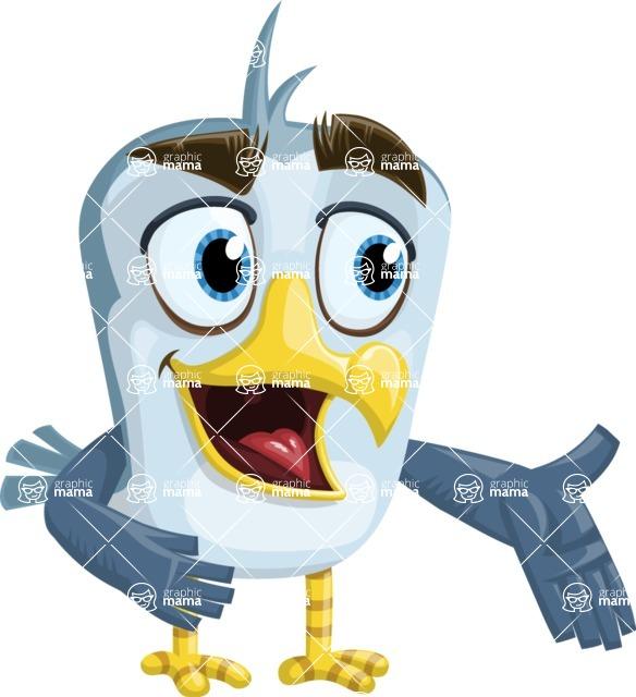 Seabird Cartoon Vector Character AKA Gulliver SeaBird - Show
