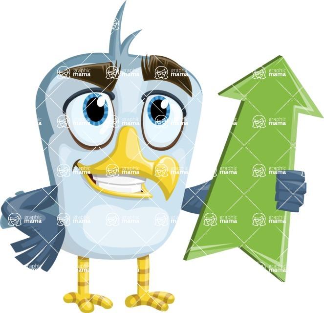 Seabird Cartoon Vector Character AKA Gulliver SeaBird - Pointer 3