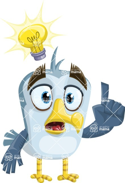 Seabird Cartoon Vector Character AKA Gulliver SeaBird - Idea