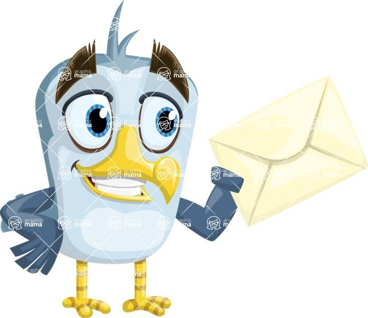 Seabird Cartoon Vector Character AKA Gulliver SeaBird - Letter