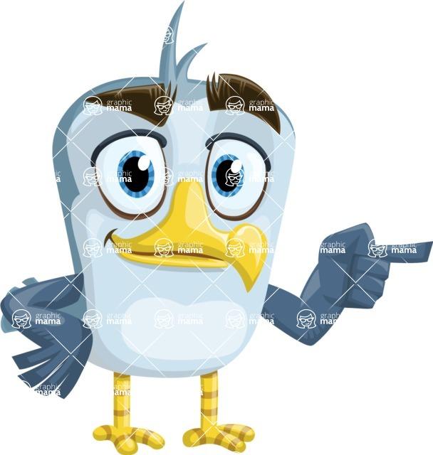 Seabird Cartoon Vector Character AKA Gulliver SeaBird - Point
