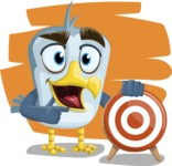 Seabird Cartoon Vector Character AKA Gulliver SeaBird - Shape 7