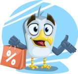 Seabird Cartoon Vector Character AKA Gulliver SeaBird - Shape 10