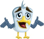 Seabird Cartoon Vector Character AKA Gulliver SeaBird - Sorry
