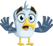 Seabird Cartoon Vector Character AKA Gulliver SeaBird - Stop 2