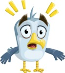 Seabird Cartoon Vector Character AKA Gulliver SeaBird - Shocked