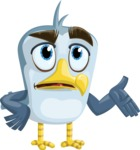 Seabird Cartoon Vector Character AKA Gulliver SeaBird - Roll Eyes