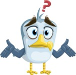 Seabird Cartoon Vector Character AKA Gulliver SeaBird - Lost