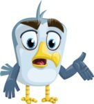 Seabird Cartoon Vector Character AKA Gulliver SeaBird - Lost 2