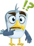 Seabird Cartoon Vector Character AKA Gulliver SeaBird - Confused