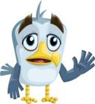 Seabird Cartoon Vector Character AKA Gulliver SeaBird - Goddbye