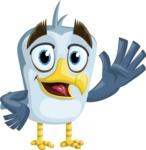 Seabird Cartoon Vector Character AKA Gulliver SeaBird - Hello