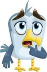 Seabird Cartoon Vector Character AKA Gulliver SeaBird - Oops