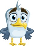Seabird Cartoon Vector Character AKA Gulliver SeaBird - Patient