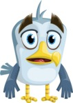 Seabird Cartoon Vector Character AKA Gulliver SeaBird - Blank