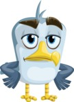 Seabird Cartoon Vector Character AKA Gulliver SeaBird - Bored