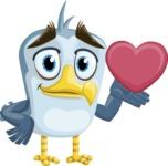 Seabird Cartoon Vector Character AKA Gulliver SeaBird - Show Love