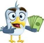 Seabird Cartoon Vector Character AKA Gulliver SeaBird - Show me the Money