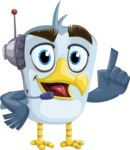 Seabird Cartoon Vector Character AKA Gulliver SeaBird - Support