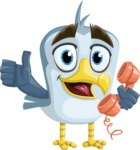 Seabird Cartoon Vector Character AKA Gulliver SeaBird - Support 2