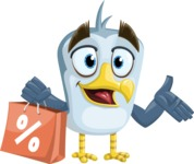 Seabird Cartoon Vector Character AKA Gulliver SeaBird - Sale