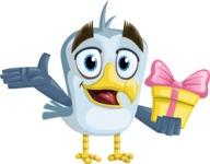 Seabird Cartoon Vector Character AKA Gulliver SeaBird - Gift