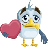Seabird Cartoon Vector Character AKA Gulliver SeaBird - Love