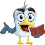 Seabird Cartoon Vector Character AKA Gulliver SeaBird - Book