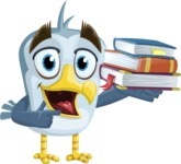 Seabird Cartoon Vector Character AKA Gulliver SeaBird - Books