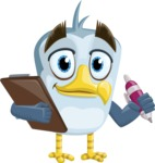Seabird Cartoon Vector Character AKA Gulliver SeaBird - Note 1