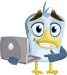 Seabird Cartoon Vector Character AKA Gulliver SeaBird - Laptop 2