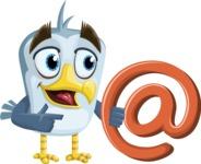 Seabird Cartoon Vector Character AKA Gulliver SeaBird - Email
