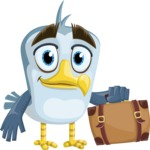 Seabird Cartoon Vector Character AKA Gulliver SeaBird - Travel