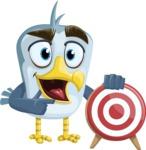 Seabird Cartoon Vector Character AKA Gulliver SeaBird - Target