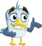 Seabird Cartoon Vector Character AKA Gulliver SeaBird - Showcase 2