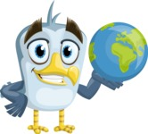 Seabird Cartoon Vector Character AKA Gulliver SeaBird - Earth