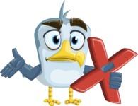 Seabird Cartoon Vector Character AKA Gulliver SeaBird - Delete