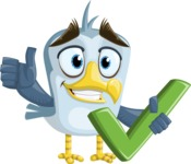 Seabird Cartoon Vector Character AKA Gulliver SeaBird - Check